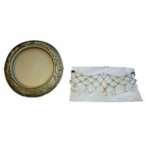 Home Interiors Candle Plate and Necklace Set/2 CNAC LAST ONE NEW HOMCO H... - $14.85