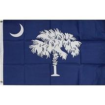 South Carolina State Flag 3x5' quality + 6 ft Woodgrain Pole + Mount mad... - $29.65