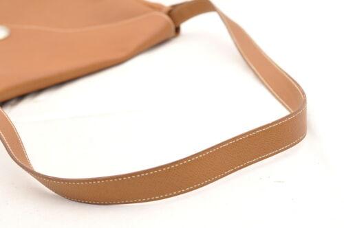 HERMES Christine Shoulder Bag Leather Brown Auth 5676 image 7