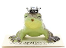 Hagen-Renaker Miniature Frog Prince Kissing Birthstone 12 December Zircon - $13.96