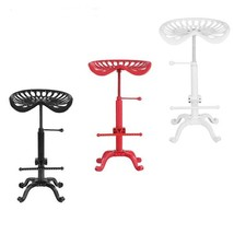 Industrial Style Cast Iron Tractor Seat Bar Stool Adjustable Height Swiv... - $135.40+