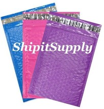 3-600 #000 4x8 ( Blue Pink & Purple ) Color Poly Bubble Mailers Fast Shi... - $3.49+