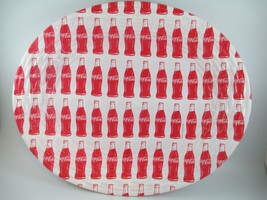 Coca-Cola Reusable Disposable Serving Tray Red and White Bottle Repeat S... - $9.90