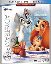 Lady And The Tramp Disney Signature Collection Blu-ray + DVD + Digital NEW - $19.31