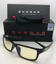 New GUNNAR Computer Glasses RIOT 57-16 140 Onyx Black Frame w/ Amber Yellow Lens