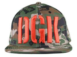 DGK Dirty Ghetto Kinder Grün Tarnfarbe Assault Snapback Baseballkappe Nwt