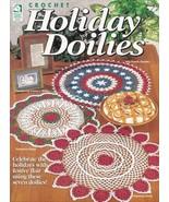 Holiday Doilies ~ Crochet NEW OOP Festive Flair Celebrate Elegant Decora... - $2.92