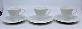 Rosenthal Continental Classic Modern White Coffee Tea Cups Saucer Set of... - $47.41