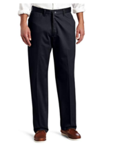 Lee Men's No-Iron Relaxed-Fit Flat-Front Pant Black 36 x 32 - $28.49