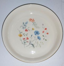 Authentic Lenox Special vegetable salad bowl floral center 24 karat gold... - $64.35