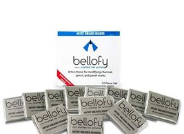 Bellofy 12 Kneaded Erasers for Drawing, Charcoal, Pastels - Art Gum, Mol... - $10.93