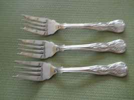 Towle Hotel Shell motif set of 3  stainless salad forks - $18.76