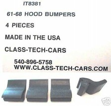 1961-1968 International Harvester pickup Travelall hood bumpers 4 pieces - $16.83