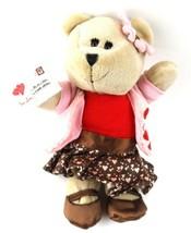 Starbucks Coffee Bearista Bear 2011 Valentines Day Hearts GIRL 102nd Ed - $13.85
