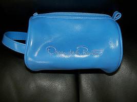 Oscar De La Renta Blue Barrel Cosmetic Case Bag Women's New - $24.00