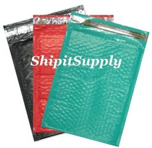3-300 #0 6.5x10 ( Black Red & Teal ) Combo Color Poly Bubble  Extra Wide... - $3.46+