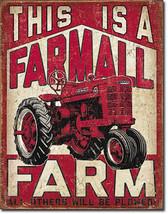 This is a Farmall Farm Farming Tractor Farm Equipment Metal Sign - $20.95