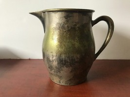 """Keystoneware Silverplated on copper water pitcher 7"""" tall - $8.91"""