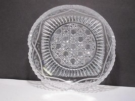 American Brilliant Period Cut Glass Signed P&B low bowl  Antique - $73.52
