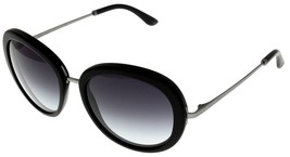 Giorgio Armani Sunglasses Women Black Round AR 8040 50428G Frames of Life  - $246.51