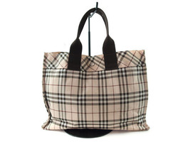 Auth Burberry London Blue Label Nova Check Nylon Canvas Tote Bag BT2335L - $139.00
