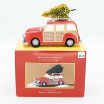 Dept. 56 American Heartland Christmas is Coming Red Car Stationwagon w.T... - $29.95