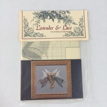VNTG Lavender & Lace Victorian Heavenly Gift Cross stitch chart New - $12.59
