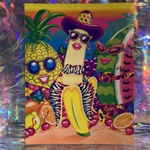 "Vintage Lisa Frank JUMBO FABULOUS FRUIT Oversized Sticker (about 5x6.5"") Minty image 1"