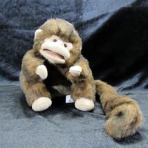 "Folkmanis Folktails 9"" Monkey Plush Hand Puppet Stuffed Animal Brown Long Tail - $21.99"