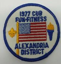 Boy Scouts 1977 Cub Fun Fitness Alexandria District Patch - $5.93