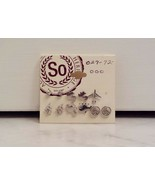 Silver Tone Assorted 5 Pairs Of Stud Earrings And 1 Single Stud Earring - $8.99