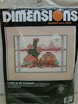 Dimensions Counted Cross Stitch Kit 3687 A Taste of the Southwest desert Pottery - $21.67