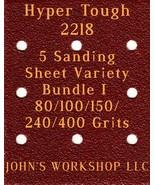 Hyper Tough 2218 - 80/100/150/240/400 Grits - 5 Sandpaper Variety Bundle I - $7.53