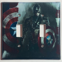 Captain America Light Switch Power Duplex Outlet wall Cover Plate Home Decor image 2
