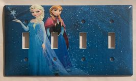 Frozen Elsa with Anna Light Switch Duplex Outlet Wall Cover Plate Home decor image 2