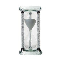 IFOLAINA Crystal Hourglass Round Multi-faceted Base Diamonds Column Whit... - $43.88