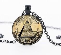 2017 New Collier Collares Masonic Illuminati Pendant Vintage Illustratio... - $7.94
