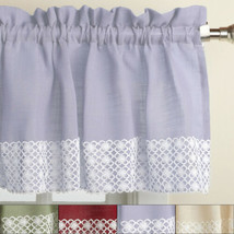 Salem Kitchen Window Curtain w/ Lace Trim - 12 x 60 Valance - $14.09