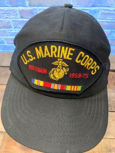 Primary image for United States MARINE CORPS Vietnam Patch Made in USA Snapback Adult Cap Hat
