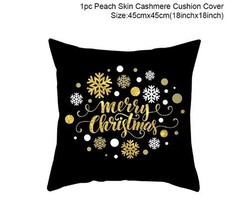 Cotton Linen Merry Christmas Cover Cushion Christmas Decor for Home - 92-10 - $12.99