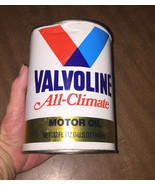 Vintage Valvoline Paper 1Qt 20W50 Motor Oil Can Full NOS GC Garage Shop ... - $14.20
