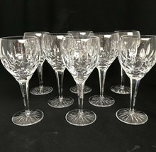 "8 Waterford Ireland Cut Glass Crystal Ballymore 7-1/2"" Water Wine Goblets Signed - $554.43"