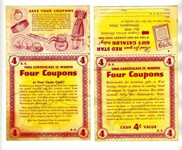 General Mills 2 Certificate is Worth Four Coupons for Red Star Gift Cata... - $17.80