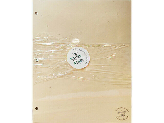 """Stampers Best Cling Stamp Storage Cards 8.5"""" x 11"""", Set of 10"""