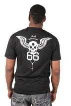 Bloodbath Projet Crâne 2XL XXL 66 Chapelet Noir Ample Graphique Poche T-Shirt