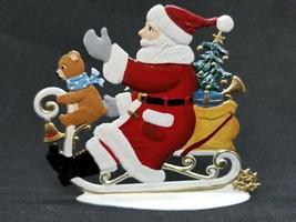 """ARTIST WILHELM SCHWEIZER GERMAN ZINNFIGUREN Sledding Santa (3.25""""x 3"""") - $100.00"""
