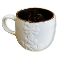 2013 Starbucks 12oz Holiday Coffee Mug - Casi Cielo Embossed White Floral Design - $18.80