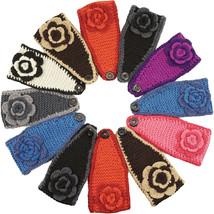 Knit Band headband Flower Headwrap Women headwear Crochet Hair CLOSEOUT ... - $2.99