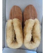 Cloud Nine Women's Slippers 8 Ankle Bootie Sheepskin Suede Shoes Brown 1... - $45.99