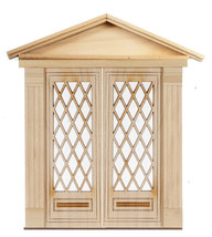 DOLLHOUSE MINIATURE 1:12 SCALE FULL DIAMOND DOUBLE DOOR #AM2325DD - $39.59